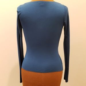 Armani Exchange Tops - A|X Sweetheart Neck Fitted Blouse